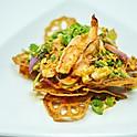 Crispy Lotus Root & Grilled Shrimp Salad / ยำรากบัวกุ้งย่าง