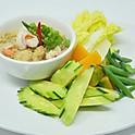 Steamed Vegetables with Soybean & Coconut Milk Dip / หลนเต้าเจี้ยว