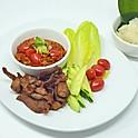 Northern Thai Pork with Tomato Chili Dip / น้ำพริกอ่อง