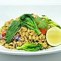 Chinese Broccoli Stir-Fried Rice with Pork / ข้าวผัดหมูรถไฟ