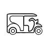 gatti e rickshaw