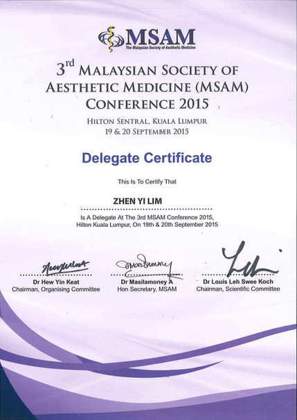 Malaysian Society of Aesthetic Medicine Conference 2015