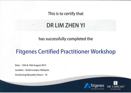 Fitgenes Certified Practitioner