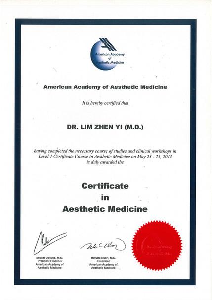 Certificate in Aesthetic Medicine