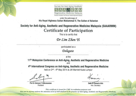 Society for Anti-Aging, Aesthetic and Regenerative MEdicine Malaysia