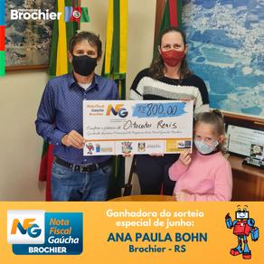 Entrega de prêmios da extração especial de junho da Nota Fiscal Gaúcha!