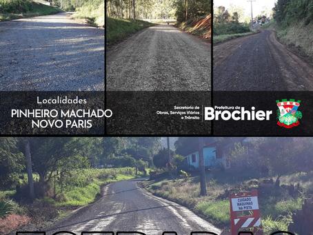 Estradas de Pinheiro Machado, Novo Paris e Linha Tigre recebem manutenção!