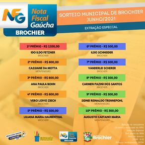 Parabéns aos ganhadores da extração especial de junho do programa Nota Fiscal Gaúcha!