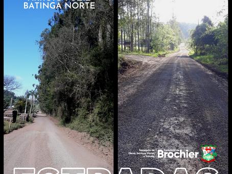 Estradas das localidades de Arroio Fuzil e Batinga Norte recebem manutenção e melhorias 🚜