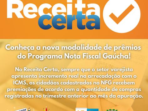 Receita Certa dará prêmios aos participantes da NFG!