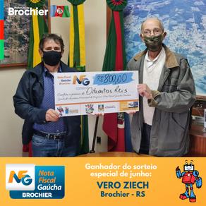 NFG entrega mais um prêmio da extração especial de junho em Brochier!