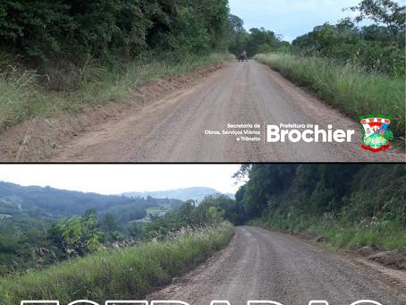 Estradas de Rincão de São Bento recebem manutenção