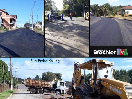 Continuam as obras de pavimentação asfáltica no Centro!