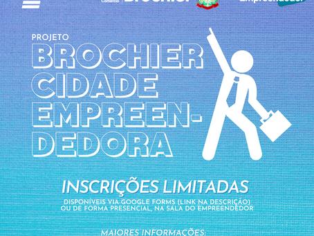"""Projeto """"Brochier Cidade Empreendedora"""" começa a receber inscrições!"""