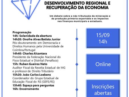 Grupo Estadual de Educação Fiscal promove Seminário Nacional Virtual