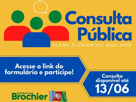 Consulta Pública online para o Plano Plurianual 2022-2025!