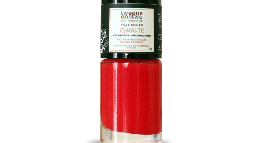 Esmalte Hipoalergênico Vegano Fortalecedor Twoone Onetwo 10ml Poppy Red