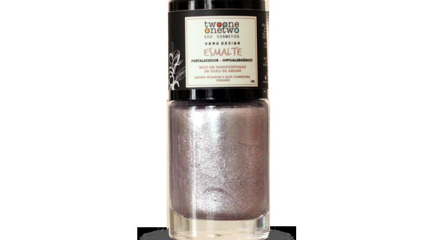 Esmalte Hipoalergênico Vegano Fortalecedor Twoone Onetwo 10ml Rose Diamond