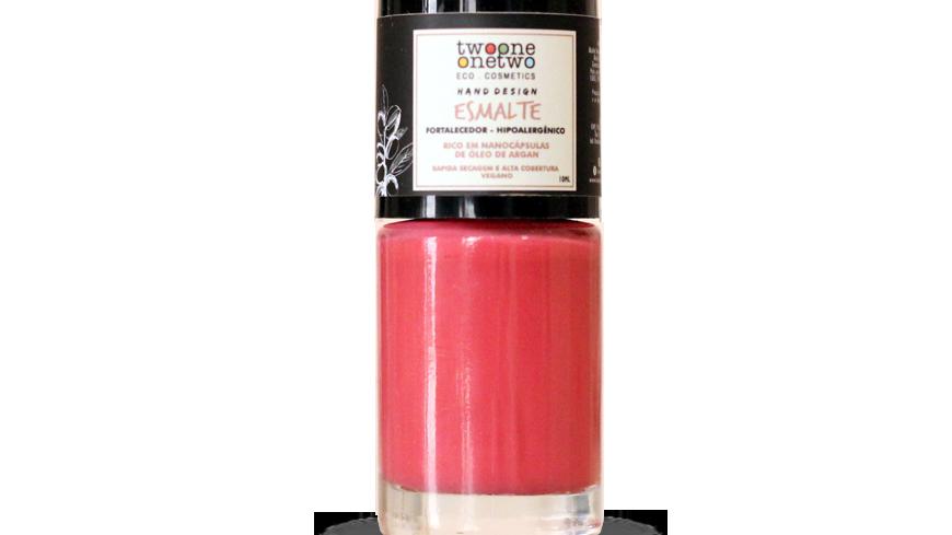 Esmalte Hipoalergênico Vegano Fortalecedor Twoone Onetwo 10ml Peach Pink