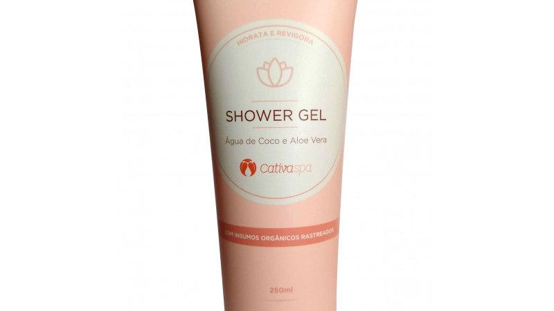 Shower Gel c/ Água de Coco e Aloe Vera 250 ml