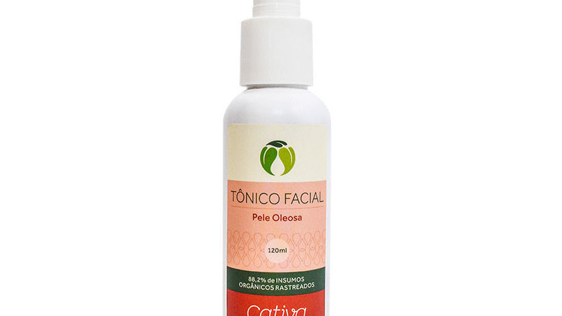 Tônico Facial p/ Pele Oleosa 120 ml