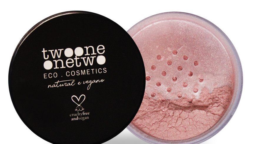 Blush Facial Leite de Coco Natural Vegano Twoone Onetwo 9 g Rose