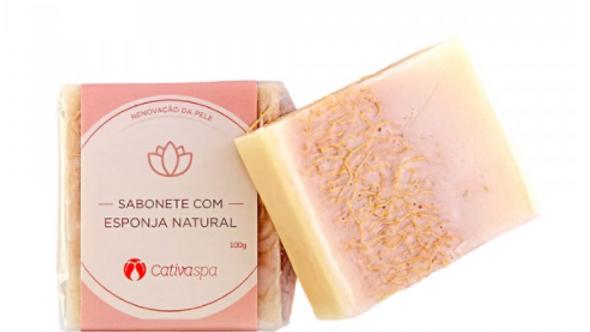 Sabonete Esfoliante c/ Esponja Natural