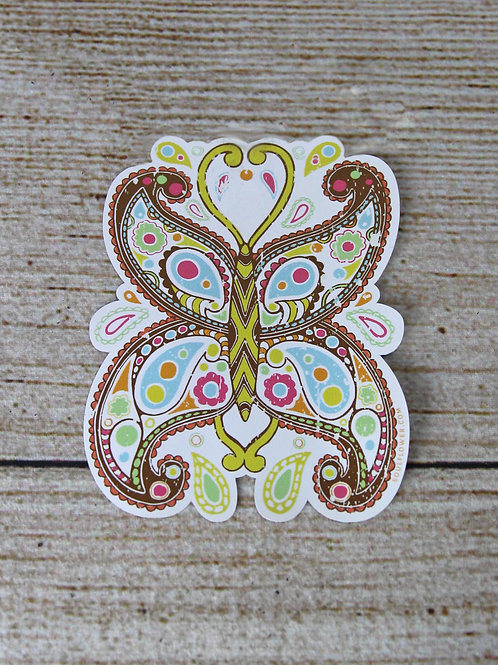 Paisley Butterfly Vinyl Sticker