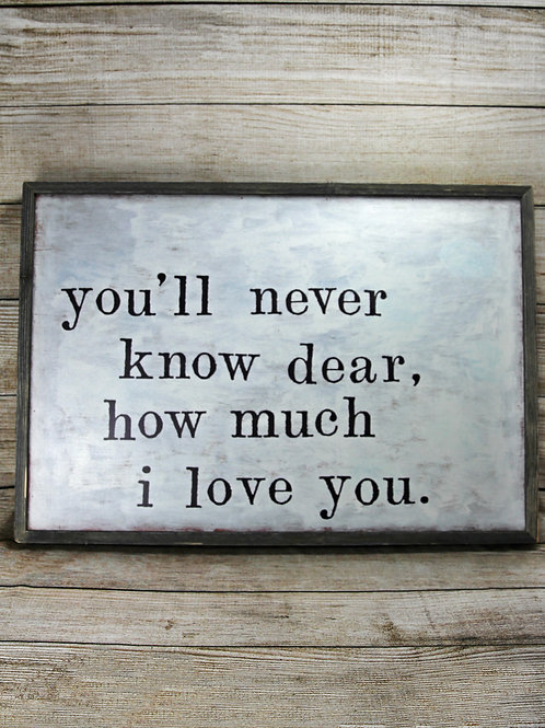 I Love You - Large Framed Picture