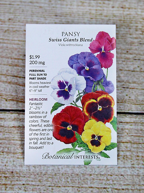 Pansy - Swiss Giants Blend Seeds