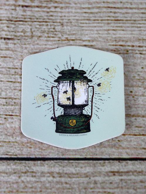 Lantern & Fireflies Vinyl Sticker