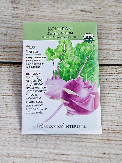 Kohlrabi, Organic (Purple Vienna)