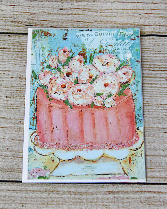 Pink Cake - Wedding Congratulations Card