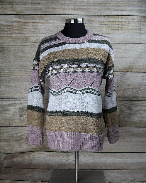 Pink Pattern Sweater