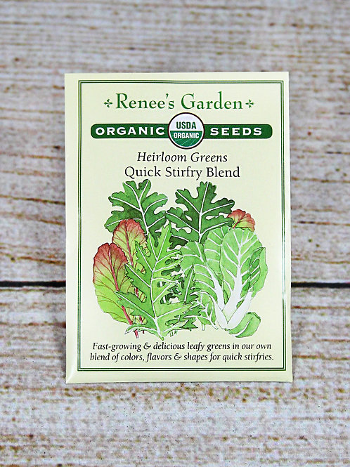 Organic Heirloom Greens - Quick Stirfry Blend Seeds