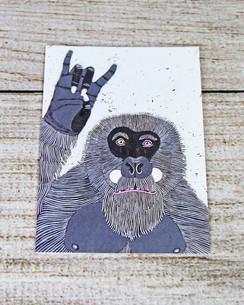 Rock on Gorilla - Birthday Card