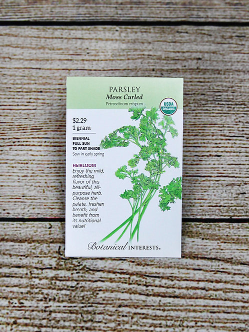 Organic Parsley - Moss Curled Seeds
