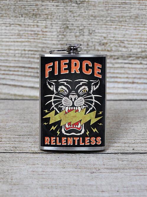 """""""Fierce Relentless"""" Flask"""