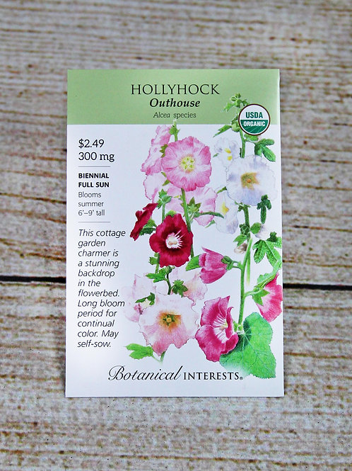 Organic Hollyhock Outhouse Seeds