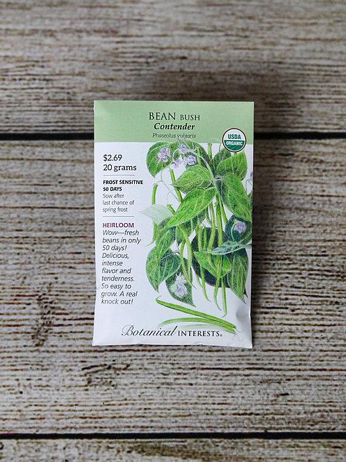 Organic Bean Bush - Contender Seeds