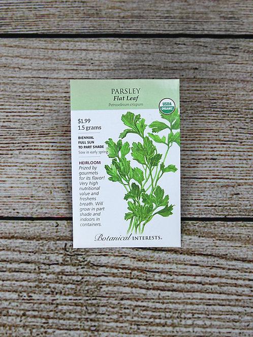Organic Parsley - Flat Leaf Seeds