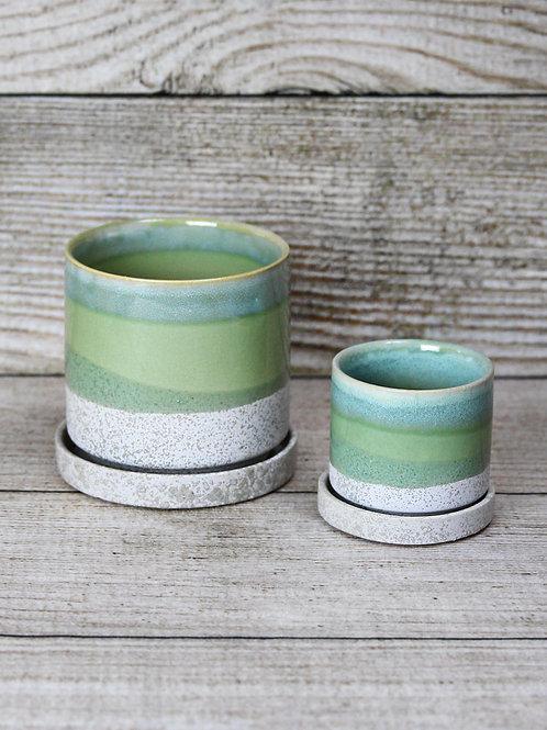 Green Glazed Ceramic Pot