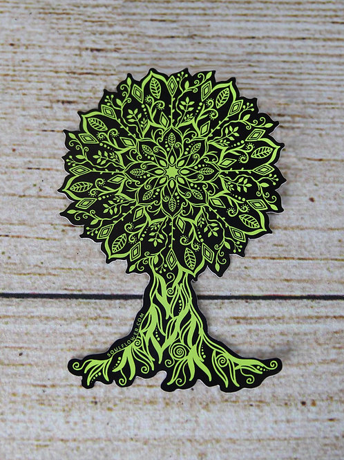 Mandala Tree Vinyl Sticker
