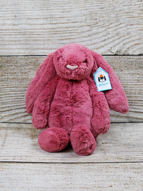 JELLYCAT Medium Bashful Dusty Pink Bunny