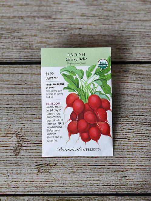 Organic Radish - Cherry Belle Seeds
