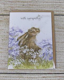 With Sympathy - Rabbit Sympathy Card