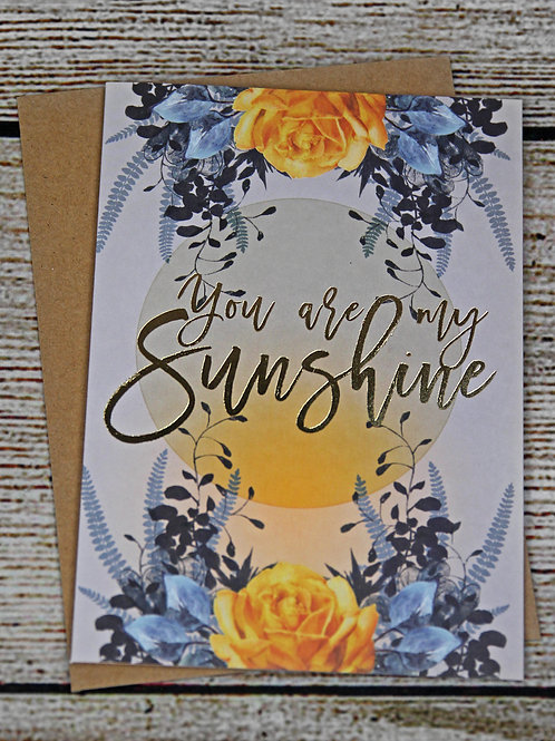 "Papaya ""You Are My Sunshine"" Card"