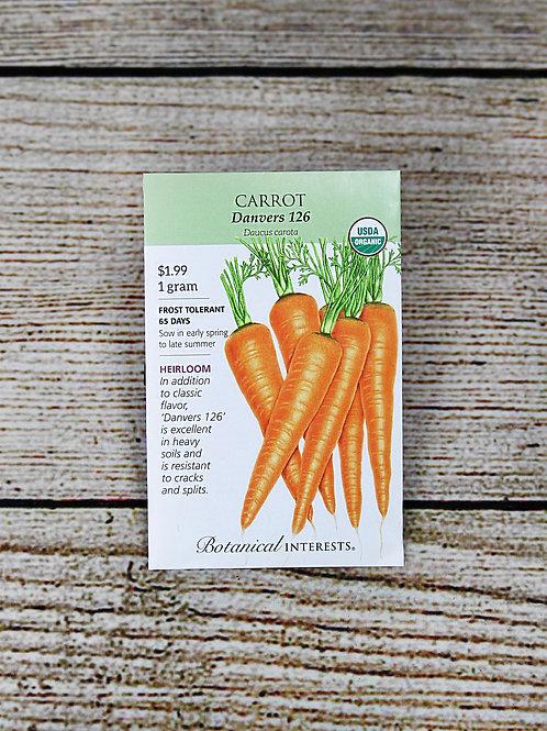 Carrot, Organic (Danvers 126)
