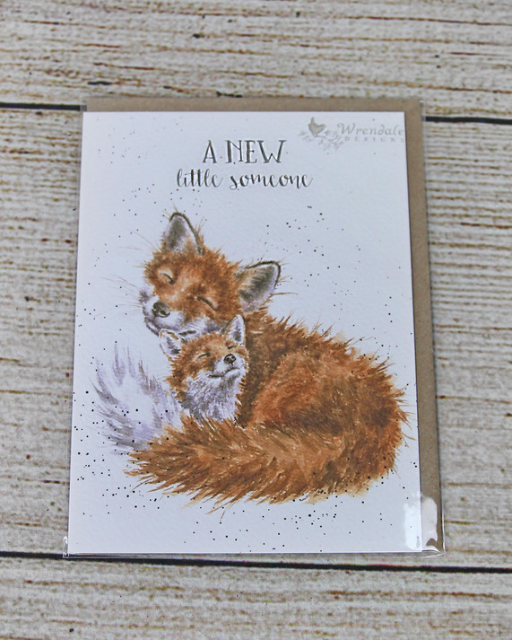 A New Little Someone - Baby Fox Card