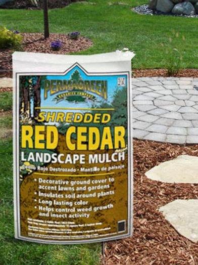 Permagreen Shredded Red Cedar Mulch